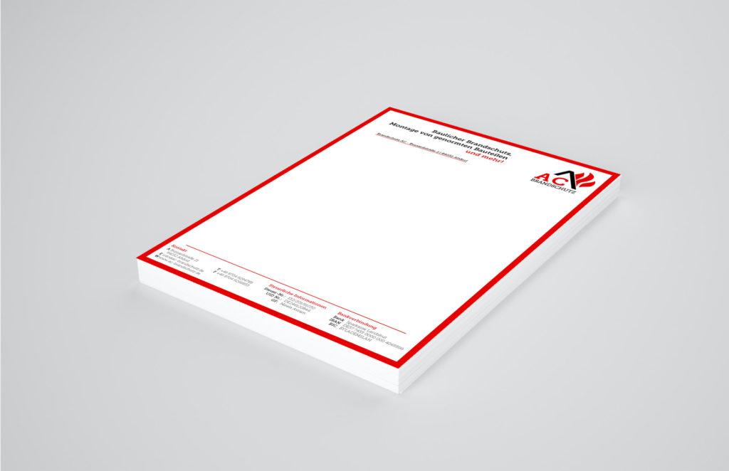 AC Brandschutz Briefpapier