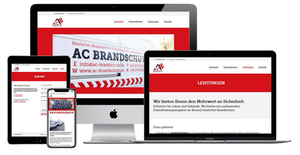 AC Brandschutz Webdesign
