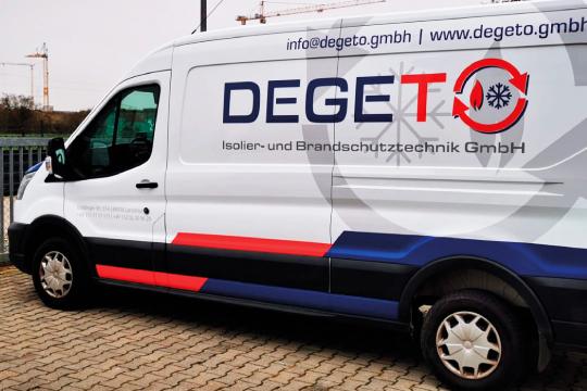 Degeto Isoliertechnik Fahrzeugbeklebung
