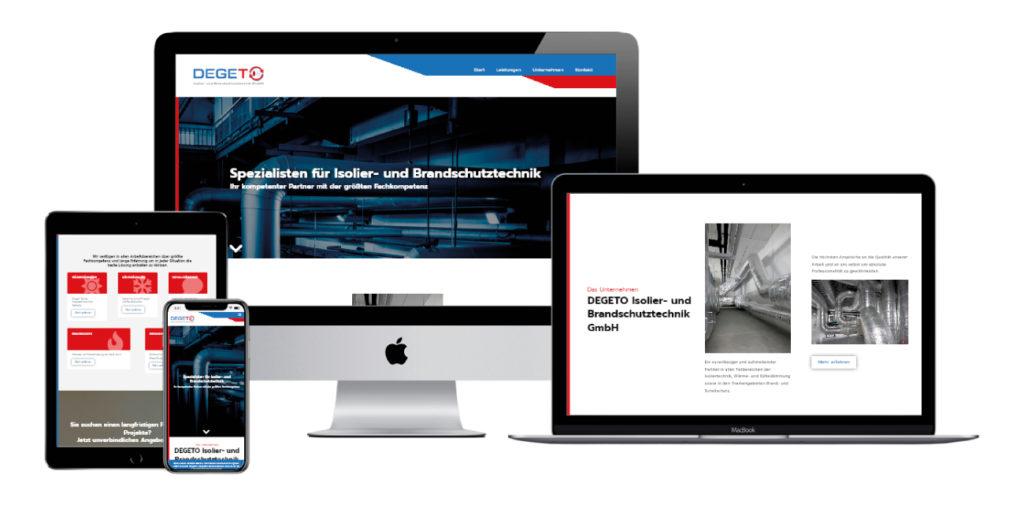 Degeto Isoliertechnik Webdesign