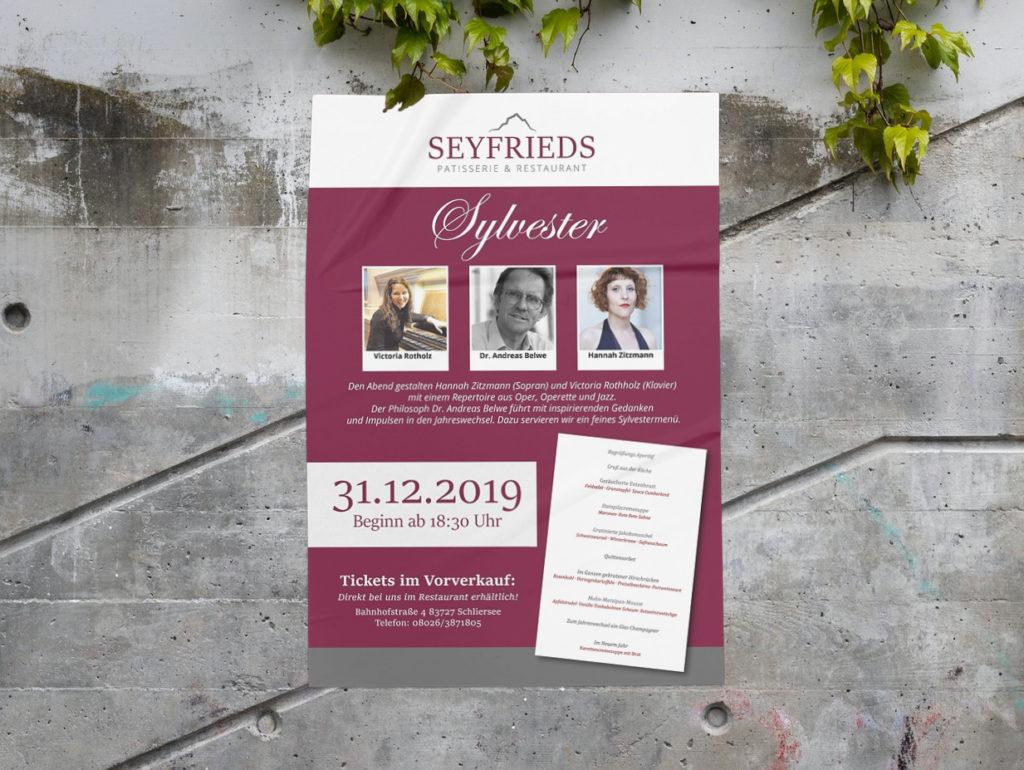 Seyfrieds Restaurant Plakate