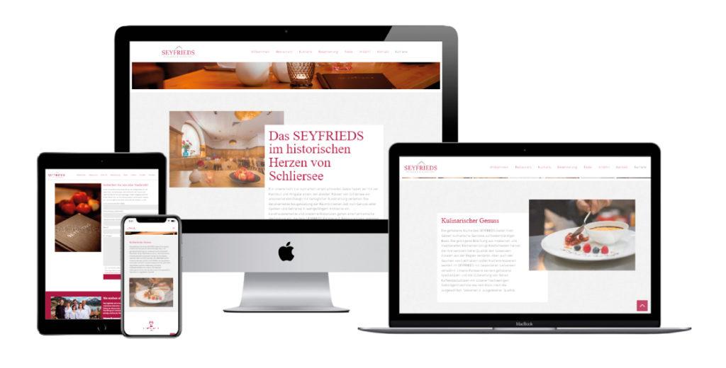 Seyfrieds Restaurant Webdesign